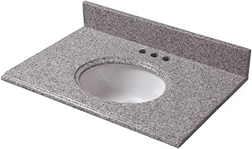 CAHABA CAVT0145 31 x 19 Napoli Granite Vanity Top with oval bowl and 4 faucet spread