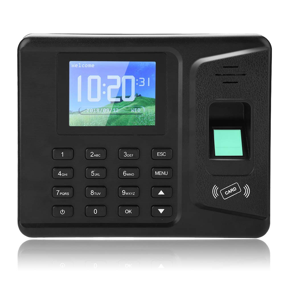 2.8 Inch TFT Screen Fingerprint Recorder,Office Time Attendance,Biometric Fingerprint Time Clock for Employees Staff…