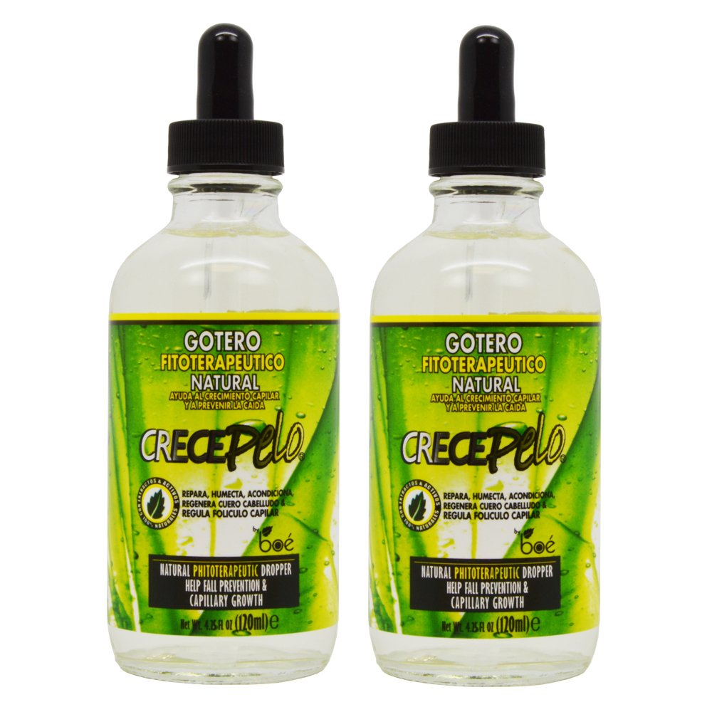 """BOE Crece Pelo Gotero Hair Growth Drop Fitoterapeutico Natural 4.25oz """"Pack of 2"""" for cheap"""