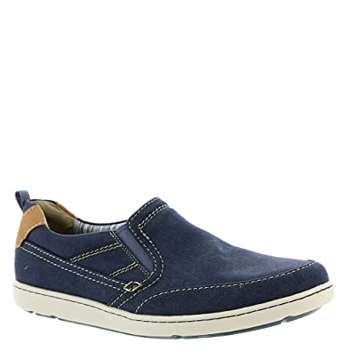 100% real cheap Mens Rockport Gryffen Penny Slip On Navy Canvas Mens Navy Canvas Rockport Mens Rockport