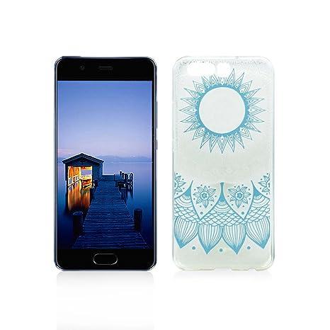 Funda Huawei P10 Plus Carcasa Protectora OuDu Funda para Huawei P10 Plus Caso Silicona TPU Funda Suave Soft Silicone Case - Totem Azul