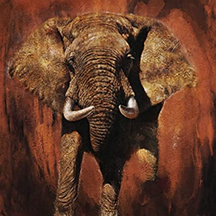 00d244a1512b4 Amazon.com: Hand Painted Canvas Paintings Africa Art Rolled Tablet ...