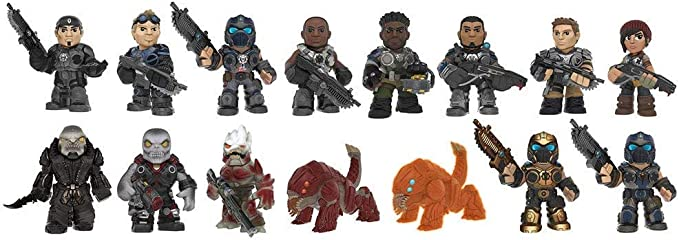 New 1 3 5 10 Or 12 Gears Of War Mystery Minis Blind Boxed Vinyl Figures Official