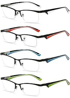 VEVESMUNDO® Lesebrillen Damen Herren Arbeitsplatzbrille Gläser FedernScharnier Brillen Vollrandbrille Mode Große Lesehilfe Augenoptik Qualität 1.0 1.5 2.0 2.5 3.0 3.5 4.9 GSGH1SYo