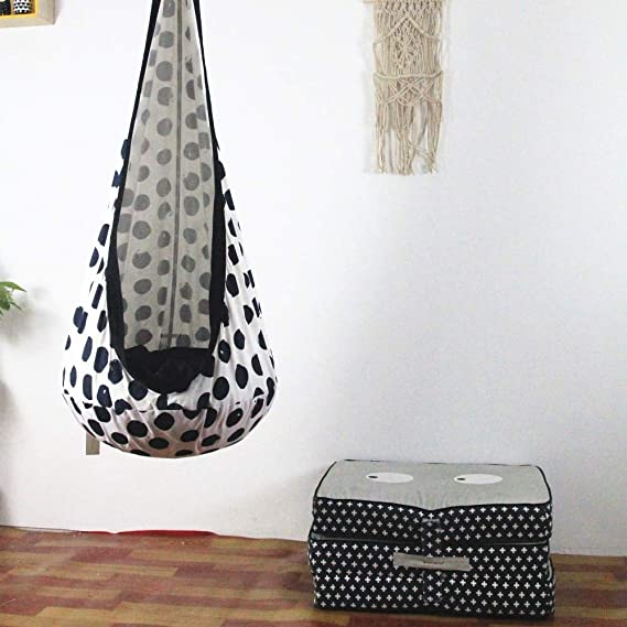 Amazon.com : fumak Swing Chair - Black and White dot Design ...