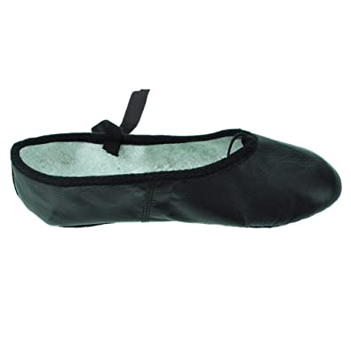 3e350254f24 Starlite Black Basic Leather Ballet Shoes  Amazon.co.uk  Shoes   Bags