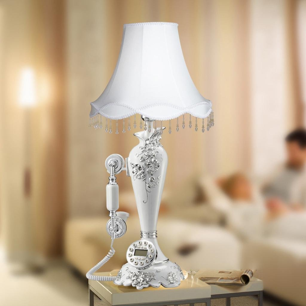 FADACAI Bedside lamp home resin phone desk lamp holder phone 43 43 75 cm by WANG