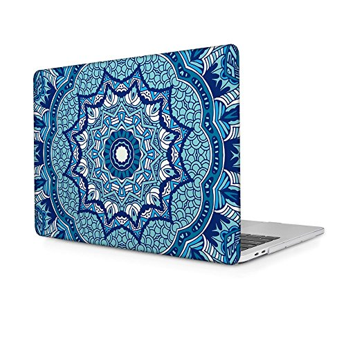 Batianda Newest MacBook Pro 13 2017 & 2016 Case,Ornamental Blue Design Crystal Hard Sleeve Protective Cover for MacBook Pro 13 inch Model:A1706 & A1708 with/without Touch Bar (Release 2017 & 2016)