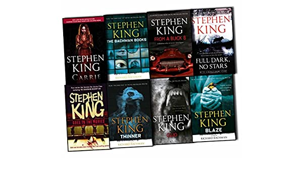 Stephen King 8 Books Collection Pack Set RRP: £78.09 Cujo, Thinner, Full Dark No Stars , From a Buick 8, The Bachman Books, Blaze, Carrie, Stephen King Goes to the Movies: Amazon.es: Libros