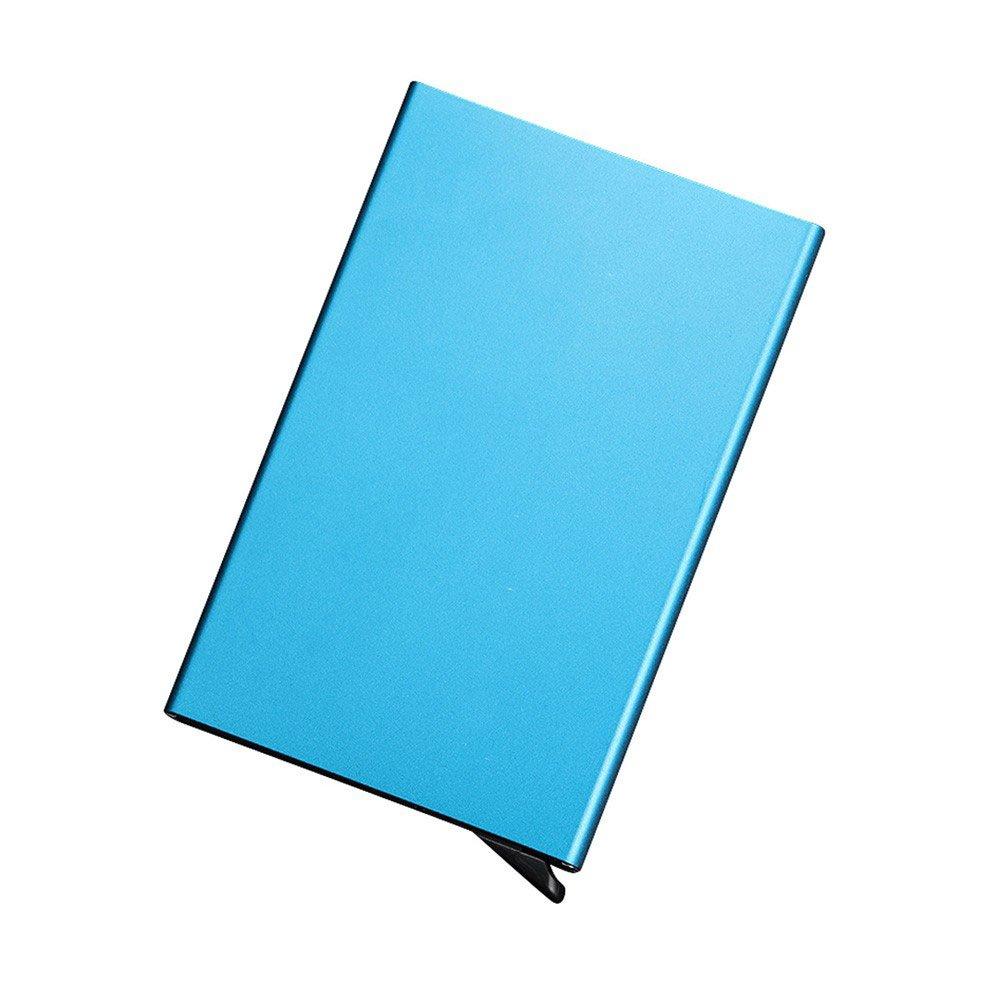 Multifunktions RFID NFC blockierender Kreditkarte Box Halter Aluminium 5ID Business Trading Karte Fall Displayschutzfolie Herren Neuheit Frauen Wallet TRAVEL Aufbewahrung Datei Boxen Sicherheit Shell Paket schwarz Efanr