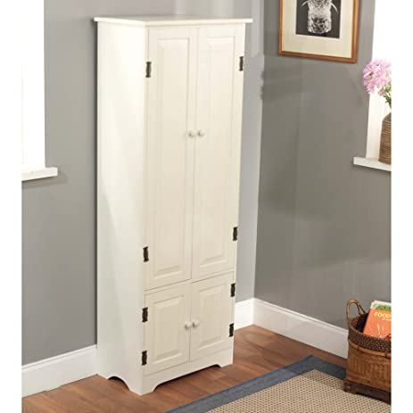 Amazon.com: Pine Extra Tall Cabinet Finish: White: Kitchen & Dining