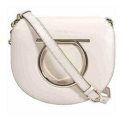 Amazon.com  Salvatore Ferragamo Gancini Crossbody Bag- Jasmine ... 1bcffc710cac5