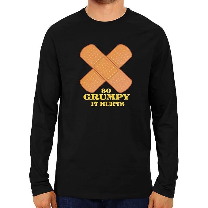 99a27a2c Idakoos - So grumpy it hurts - Adjectives - Raglan Long Sleeve T-Shirt:  Amazon.ca: Clothing & Accessories