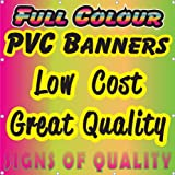 PVC Banner 4ft x 2ft - Printed Outdoor Vinyl Sign for Business Parties Birthdays