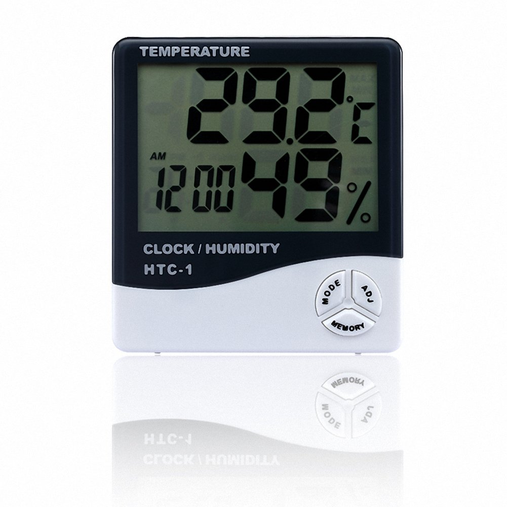 OMEM Reptile Accurately Measures Thermometer Hygrometer LCD Display Temperature and Humidity Data Logger