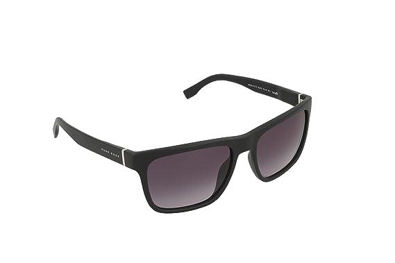 08a07409719 BOSS by Hugo Boss Men s B0727s Wayfarer Sunglasses MATTE BLACK GRAY  GRADIENT 56 mm