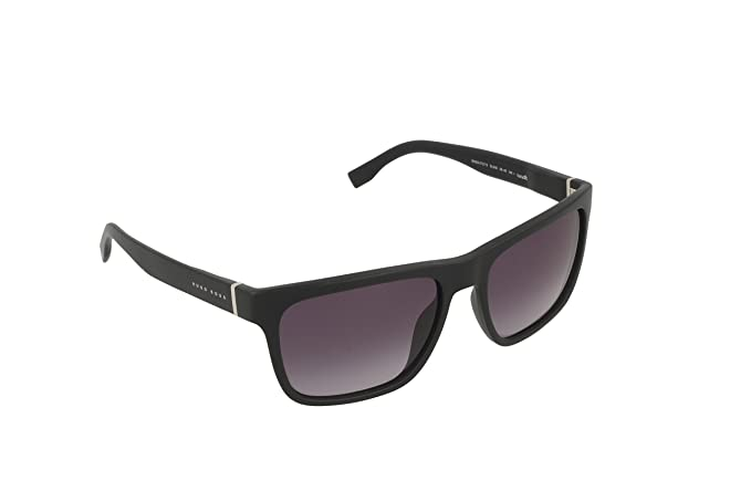 873b51171 BOSS by Hugo Boss Men's B0727s Wayfarer Sunglasses MATTE BLACK/GRAY  GRADIENT 56 mm: Amazon.ca: Clothing & Accessories