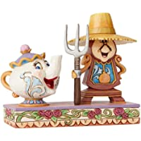 Enesco Disney Traditions by Jim Shore Cogsworth and Mrs Potts 雕像