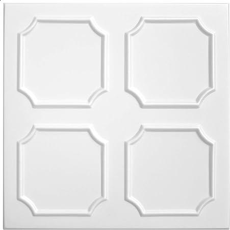1qm Panneaux pour Plafond XPS Formfest Hexim 50x50cm NR.04