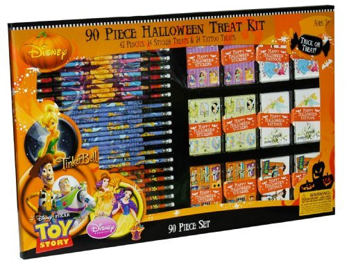 Disney's 90 Piece Halloween Treat Kit Disney Princess, Ti...