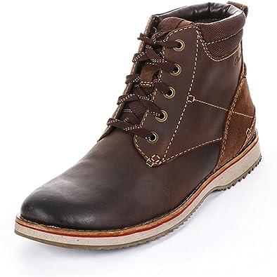 Acumulativo proporción Embotellamiento  Clarks Mahale Hi - botas de cuero hombre, marrón - Braun (Dark Brown Oily  Nubuck), 38.5: Amazon.es: Zapatos y complementos