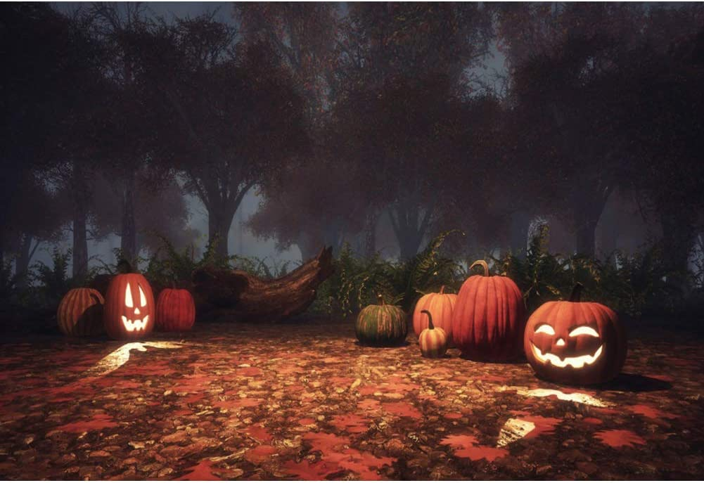 Oerju 2 2x1 5m Halloween Hintergrund Kürbislaterne Kamera