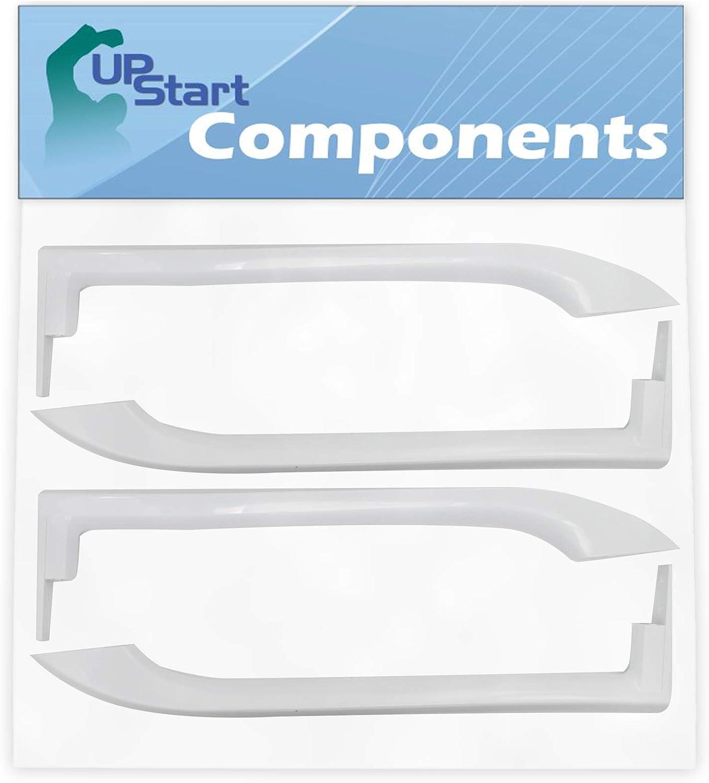 2-Pack 5304486359 Refrigerator Door Handles Set Replacement for Frigidaire LFHT1831QP3 Refrigerator - Compatible with 5304486359 White Door Handles - UpStart Components Brand