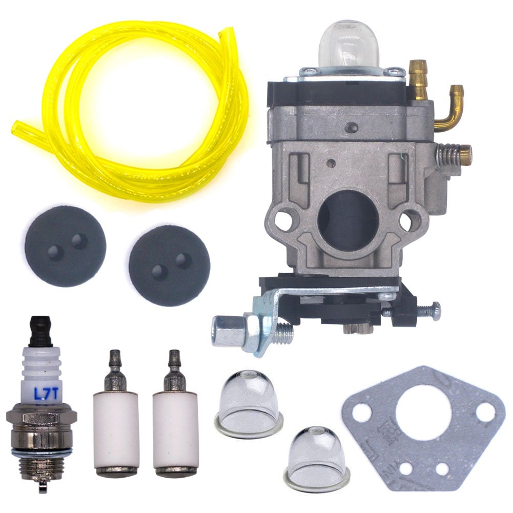 FitBest New Carburetor 300486 with Repower Tune-Up Kit for Earthquake E43 E43WC E43CE replaces Auger MC43 MC43E MC43CE MC43RCE MC43ECE Tiller MD43 WE43 WE43CE WE43E Edger