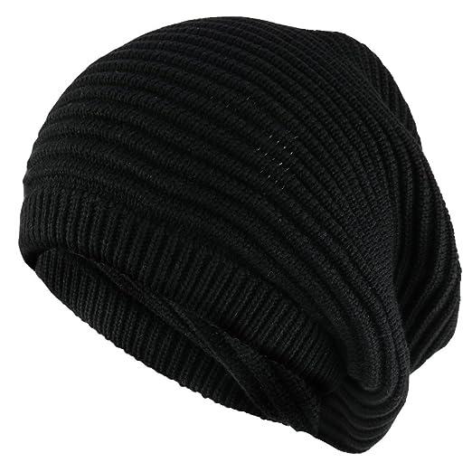 4085f416fac Amazon.com  11 Inch Deep Crown Style Rasta 100% Cotton Beanie Hat ...