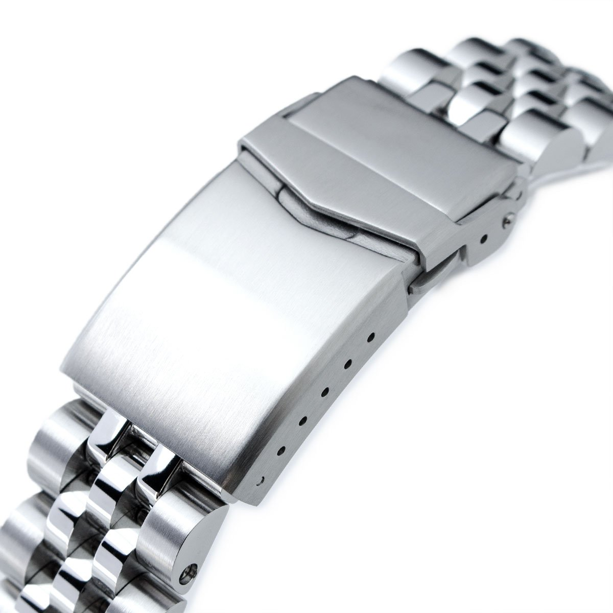 20mm Angus Jubilee 316L SS Watch Bracelet for Seiko Alpinist SARB017, V-Clasp by Seiko Replacement by MiLTAT (Image #3)