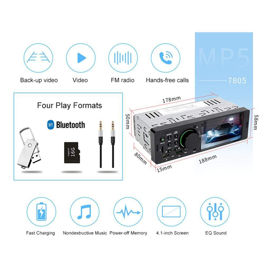 St/ér/éo de Voiture /à Deux Voies FM /à /écran Couleur Tactile 854 TENLSO Autoradio BT autoradio MP3 480 de 4.1 avec Support BT//USB//TF avec t/él/écommande,T/él/écommande Distance 8 m/&egrav MP5