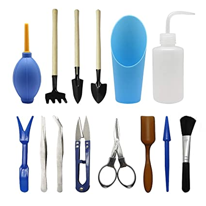 Homagty 14 Pcs Transplanting Tools, Mini Garden Succulent Tool Small  Gardening Hand Tools Set For