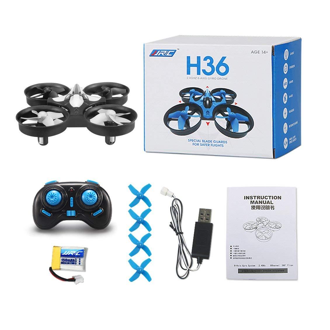 fghdf Fit H36 Mini Drone RC Drone Quadcopters con modo sin cabeza ...