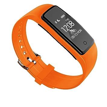 Pulsera inteligente para seguimiento de la actividad física, con pulsómetro y podómetro, modo de montar, WeChat Sports, ranking ...