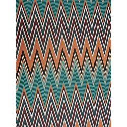 Polyester Spandex Techno 2 Ways Stretch Chevron Design Fabric