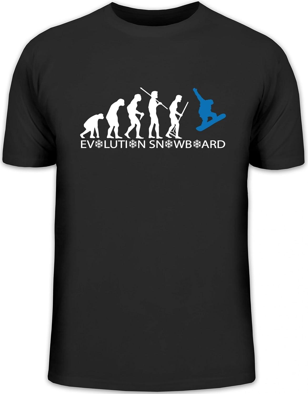 Shirtstreet24, EVOLUTION SNOWBOARD 2.0, Wintersport Après Ski Herren T-Shirt Fun Shirt Funshirt
