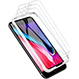 LK [3 PACK] iPhone 8 Plus Screen Protector, iPhone 7 Plus Screen Protector, [Tempered Glass][Case Friendly] DoubleDefence [Alignment Frame Easy Installation] with Lifetime Replacement Warranty