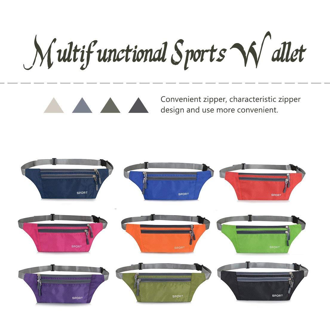 Bolsillos para Correr multifunci/ón ultradelgados Deportes para Hombres Bolsillos antirrobo para Exteriores Cintur/ón Impermeable Invisible para Viaje para Mujeres DFHJSXD