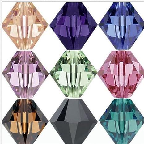 500 cuentas de cristal de 4 mm para bisutería, manualidades, bricolaje, multicolor