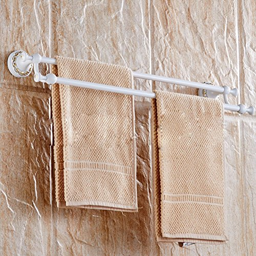 KHSKX Carved ivory white towel racks towel rod delicate