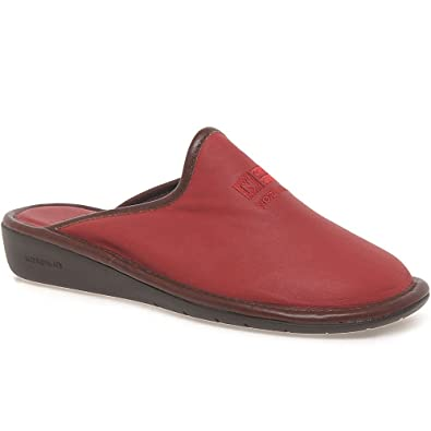 17387fc6daa Nordikas Naomi II Leather Ladies Slippers 4   37 Red  Amazon.co.uk  Shoes    Bags