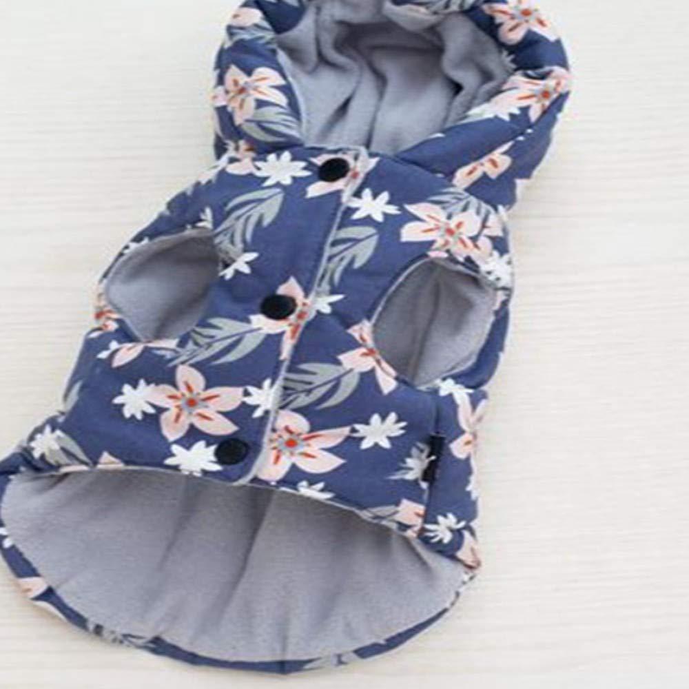 AITU Vestiti Dell'Animale Domestico Giacca Invernale Vestiti da Compagnia Compagnia Compagnia in Cotone Spessi Caldi Vestiti Cane Stampati, XXL 1a0abd