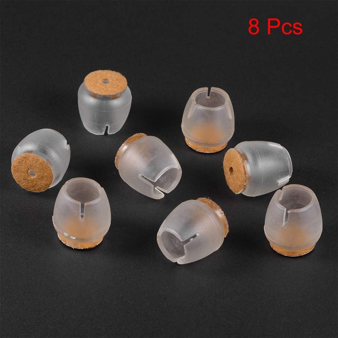 Patas redondas para muebles de 16 mm a 21 mm 8 piezas sourcing map Protectores de suelo para pata de la silla