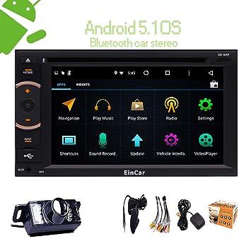 Estéreo Eincar Android navegación del GPS del coche de radio auto CD / DVD 2 Din