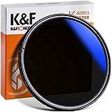 K&F Concept 62mm Variable Neutral Density Filter ND2 to ND400(9 Stop) Fader Adjustable ND Lens Filter, Ultra-Slim/Multi Coate
