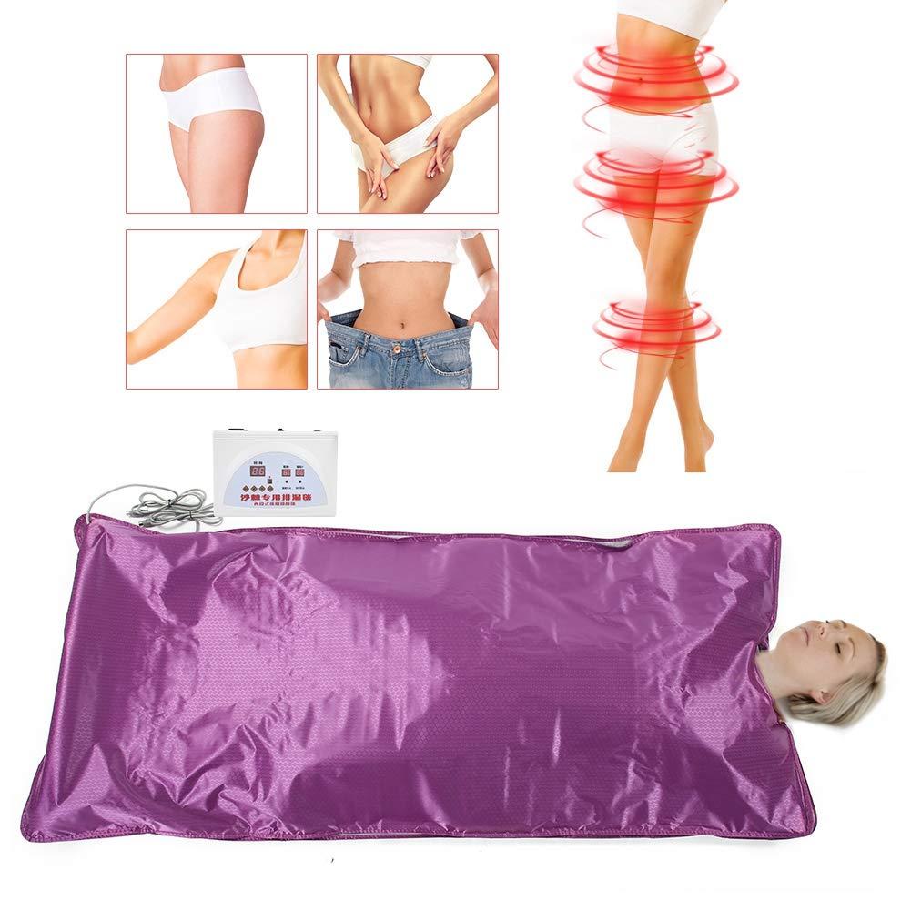 Digital Sauna Therapy Blanket for Body Shape Slimming Fitness Anti Ageing Beauty Machine US Plug 110V Yosooo Far Infrared Heat Sauna Blanket