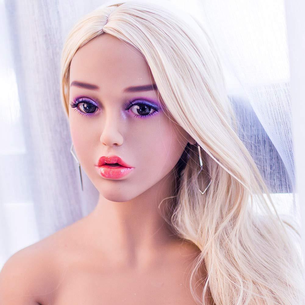 KWDoll Sex Doll Head for Male Masturbation Real TPE Material for 135 cm - 176cm Silicone Love Doll Body (Fern)