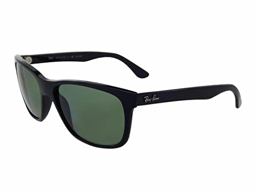12583a058f Ray Ban RB4181 601 9A Black Green Classic Polarized 57mm Sunglasses   Amazon.co.uk  Clothing