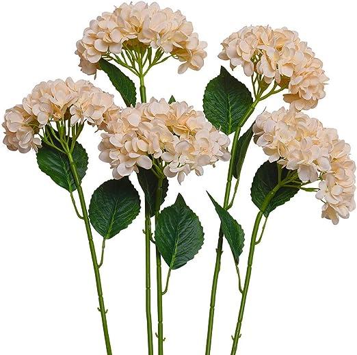 6 Branches Artificial Fake Peony Flower Arrangement Home Hydrangea Decoration