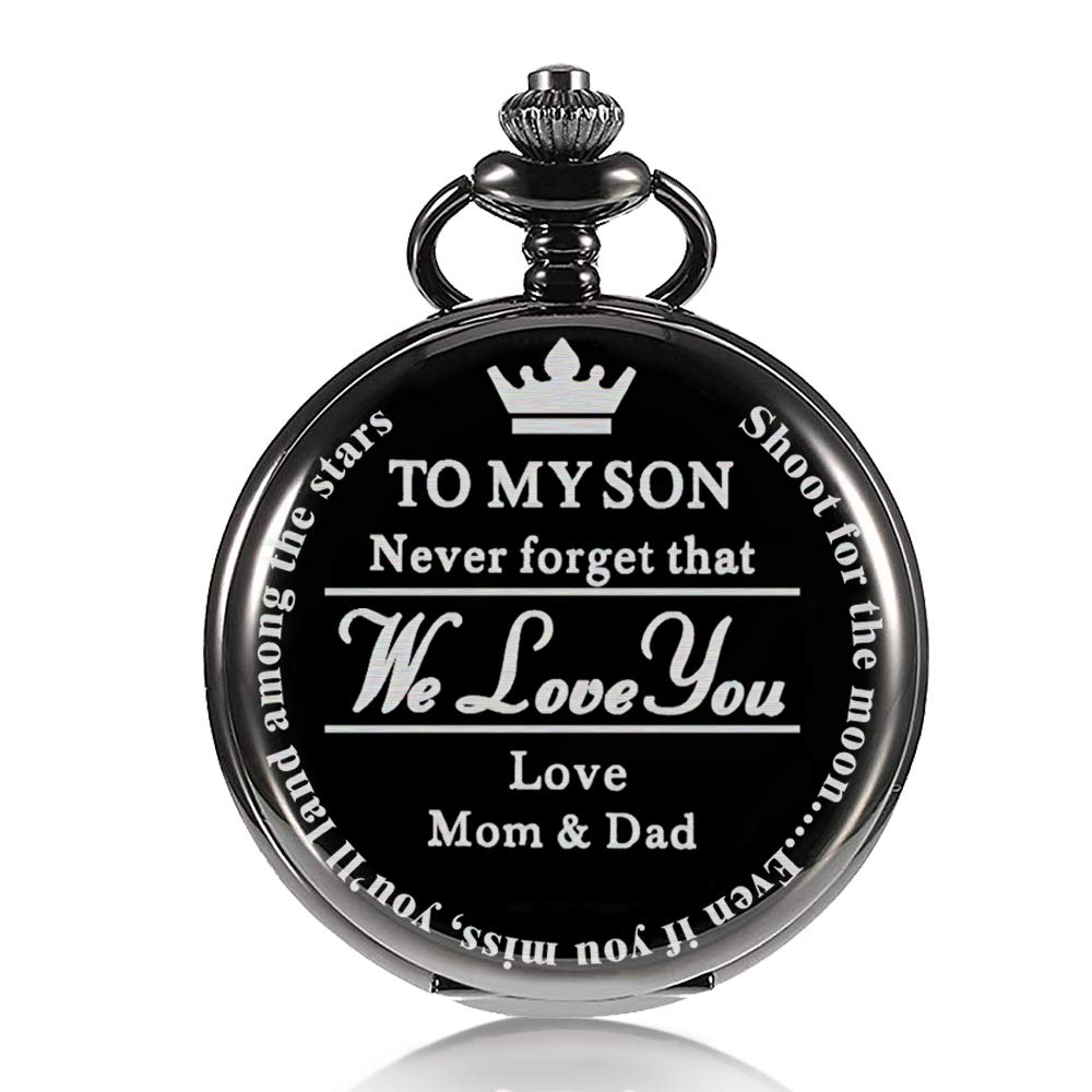 Pocket Watch Gift for Son,to My Son | Pocket Watch Gifts for Son from Mom & Dad for Christmas, Valentines Day, Birthday by Besfurniture